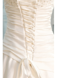 Fabulous Strapless A-line Satin Corset Wedding Dress
