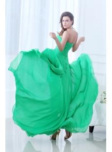 Fancy Green Flowing Sweetheart High-low 2014 Prom Dress