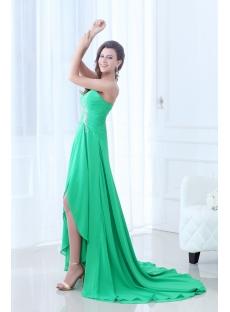 fancy green flowing sweetheart highlow 2014 prom dress