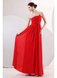 Fancy Red One Shoulder Pregnant Evening Dress