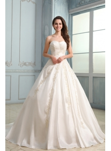Graceful Long Taffeta Corset Sweetheart Wedding Dress