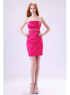 Hot Pink Mini Homecoming Dresses 2013 Cheap