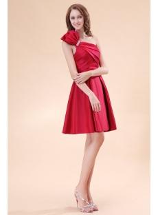 Lovely Burgundy Satin Short Homecoming Dresses