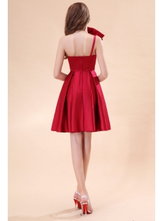 Lovely Burgundy Satin Short Homecoming Dresses