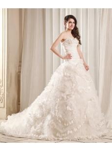 Luxurious Princess Wedding Dress 2014 with Flowers