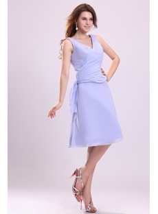 Modest Lavender Short Homecoming Dress