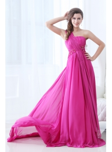 New Arrival Plus Size Prom Dress 2014 with One Shoulder