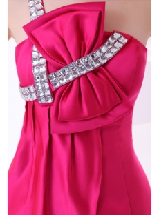 One Shoulder Hot Pink Hottest Club Dresses