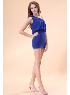 One Shoulder Royal Blue Homecoming Dresses under 100