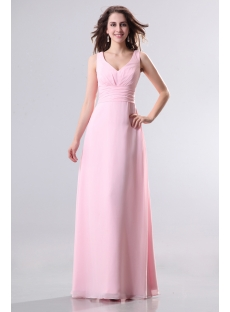 Pink Plus Size Homecoming Dress with V-Neckline