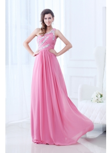 Popular One Shoulder Pink 2011 Prom Dress