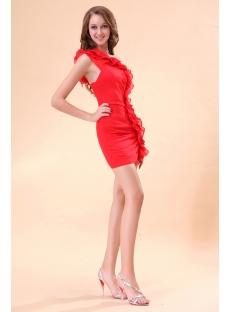 Popular Red One Shoulder Mini Night Clue Dress
