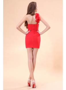 Popular Red One Shoulder Mini Night Clue Dress
