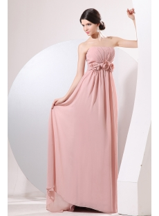 Pretty Dusty Rose Chiffon Empire Maternity Party Dress