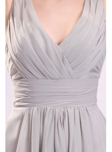 Pretty Gray Chiffon Bridesmaid Dress for Large Bust
