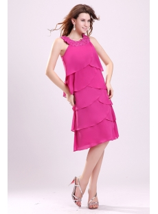 Pretty Hot Pink Mother of the Bride Dresses for Older Women
