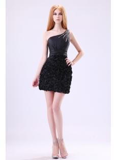 Pretty One Shoulder Little Black Cocktail Dress