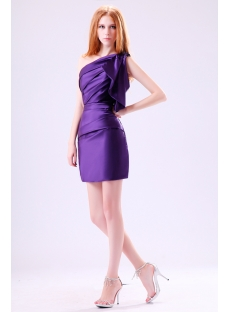 Pretty Purple One Shoulder Maxi Dress