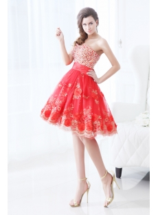 Pretty Red Short Vestidos de Quinceanera