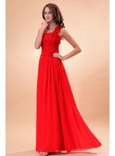 Pretty Ruched Chiffon 2011 Prom Dresses with One Shoulder