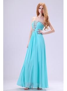 Pretty Strapless Blue Plus Size Cocktail Dress