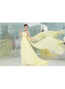 Pretty Strapless Yellow A-line Celebrity Dress