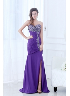Purple New Arrival Fancy Prom Dress