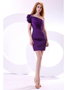 Purple Trendiest Club Dresses with Cap Sleeves