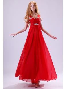 Red Straps Plus Size Graduation Dresses For 8th Grade