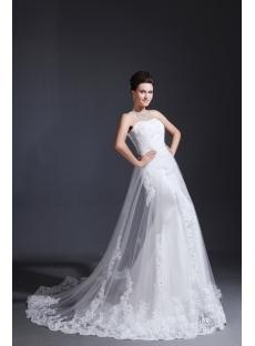 Romantic Lace Sheath Bridal Gown 2014