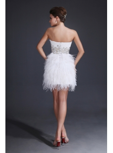 Romantic White Ostrich Feathers Sweet 16 Dresses