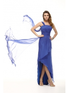 Royal Blue Romantic Summer Homecoming Dress