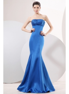 Royal Blue Sheath Prom Dress 2011