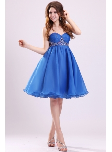 Royal Organza Baby Doll Short Cocktail Dress