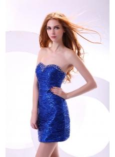 Royal Sequins Mini Club Dress