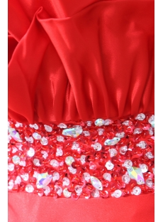 Satin Red 2012 Ankle Length Ball Gown Prom Dress