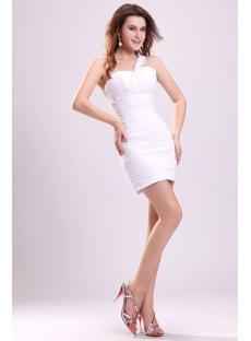 Sexy One Shoulder Little White Mini Club Dress