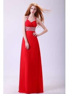 Shinning Red Plus Size Long Cocktail Dress