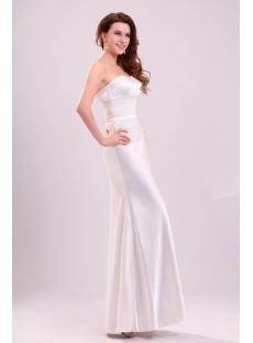 Simple Sheath Satin Casual Wedding Gown