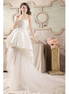 Special High-low Hem Beach Wedding Dress