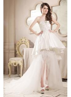 Special High Low Hem Beach Wedding Dress