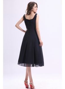 bbe08879c8 Square Chiffon Tea Length Little Black Dress 1st-dress.com