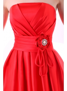 Strapless A-line Short Junior Prom Dresses