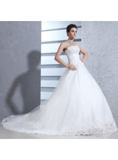 Strapless Pretty 2014 Ball Gown Wedding Dress
