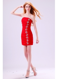 Strapless Red Mini Club Dresses