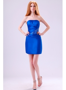 Strapless Royal Mini Club Dresses
