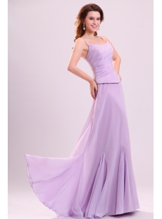 Stunning Lavender Long Chiffon Bridesmaid Dress in Summer