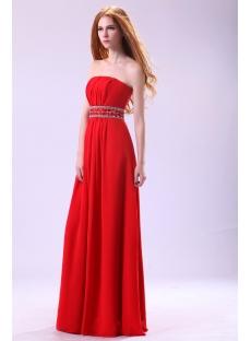 Stylish Strapless Chiffon Plus Size Affordable Prom Dresses
