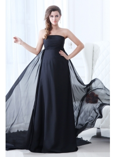 Superior Black Strapless Plus Size Evening Dress 2014