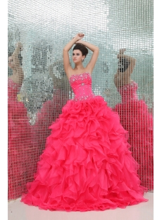 Sweet Ruffled Puffy 2014 Vestidos de Quinceanera
